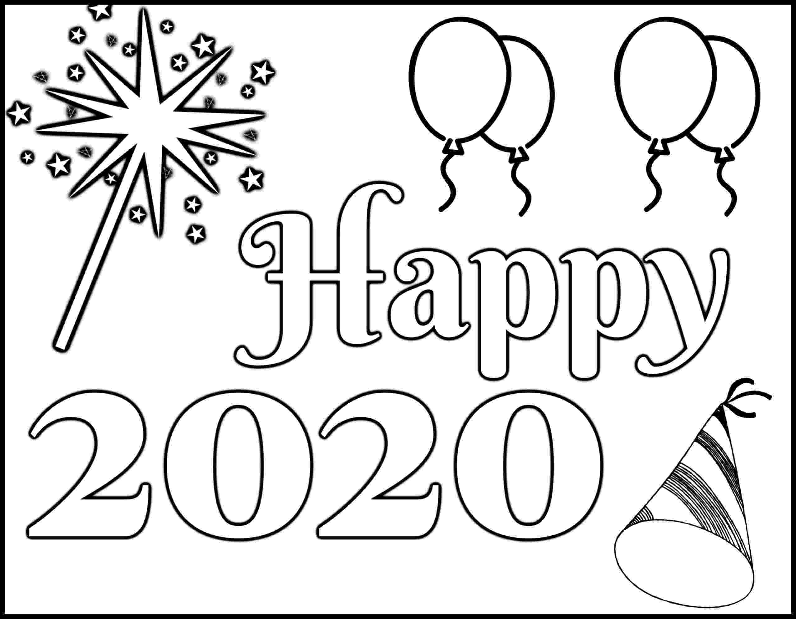 happy new year coloring pages new year39s coloring page 2020 quotlet your light shinequot free coloring new pages happy year