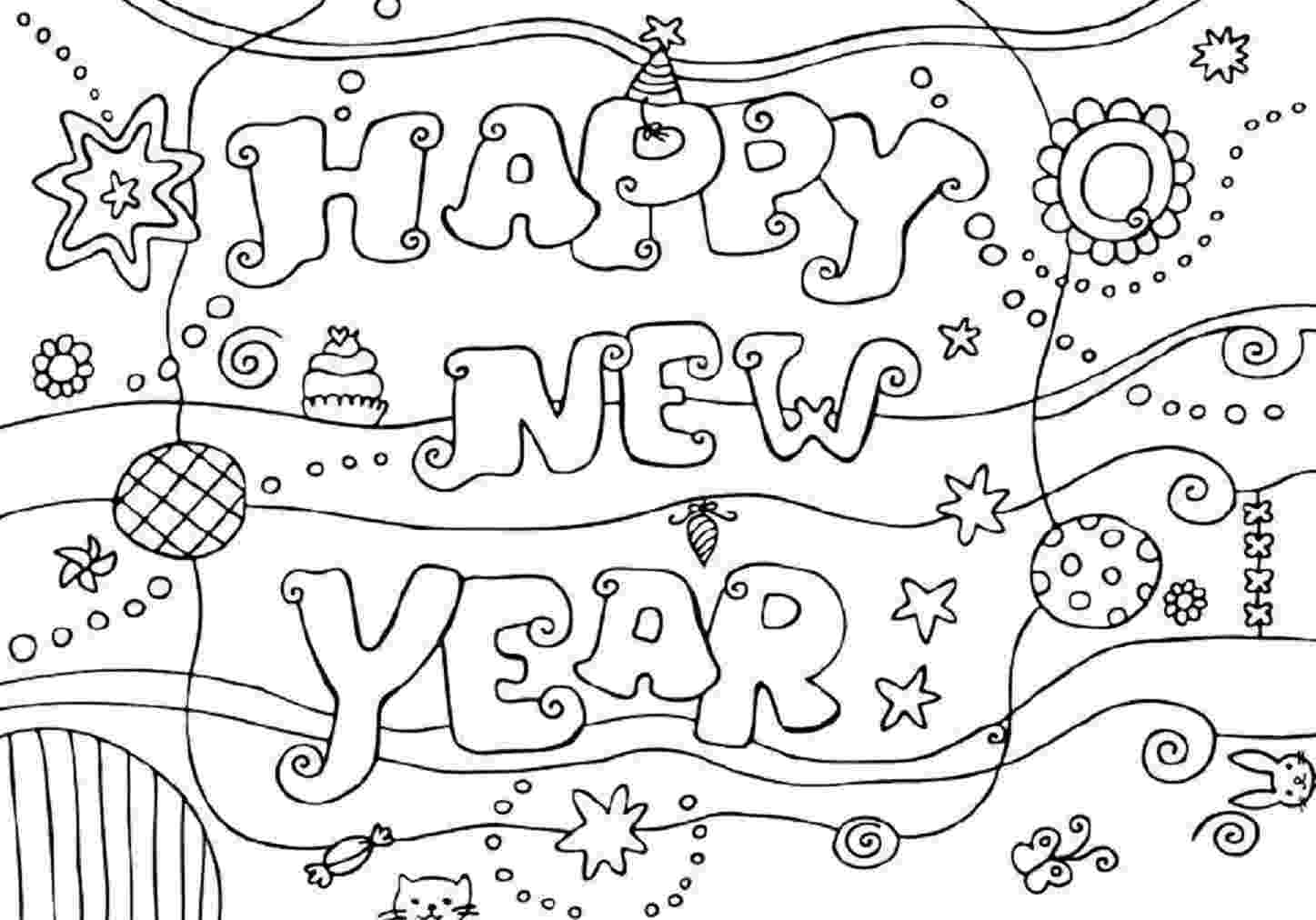 happy new year coloring pages printable happy new year coloring pages for kidsfree happy coloring new pages year