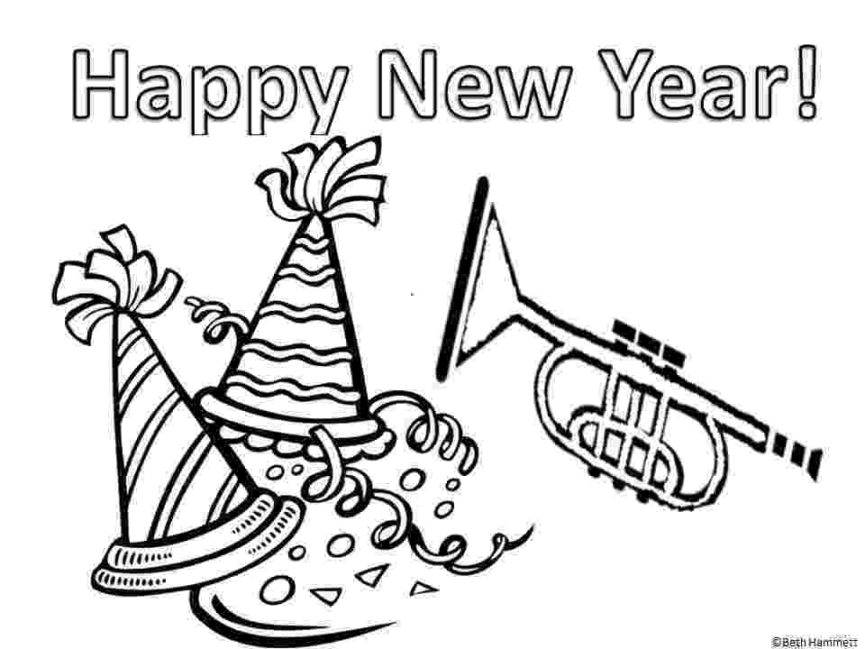 happy new year coloring pages the holiday site happy new year39s coloring pages year happy coloring pages new