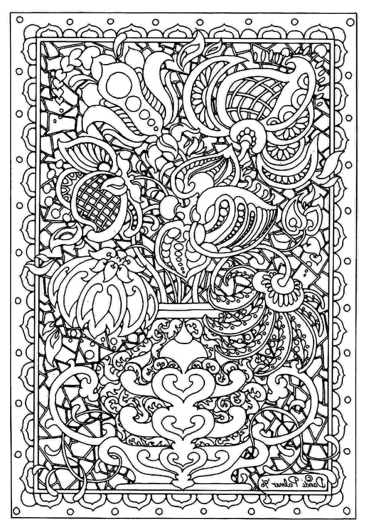 hard coloring page flower difficult flowers adult coloring pages page hard coloring