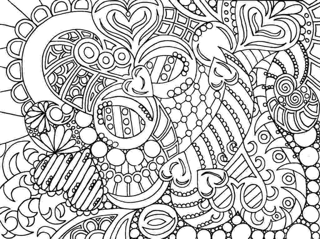 hard coloring page free printable abstract coloring pages for adults hard page coloring