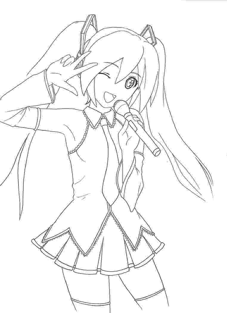 hatsune miku coloring pages hatsune miku lineart by kasugaichi on deviantart pages coloring miku hatsune