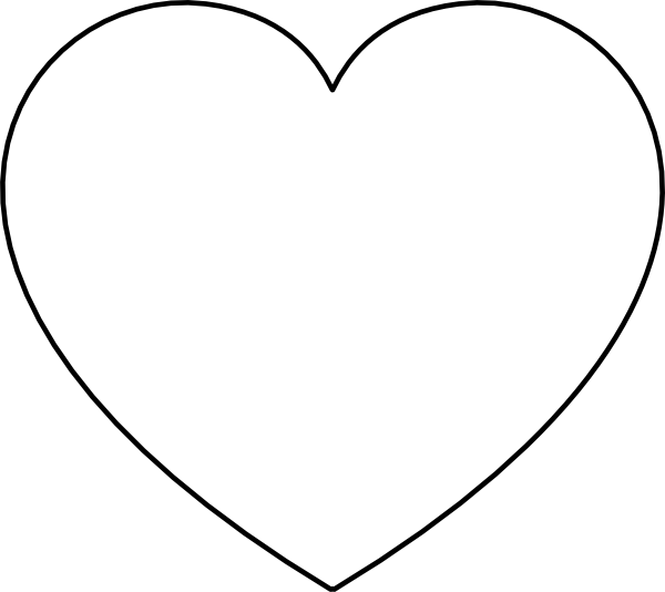 heart shape coloring pages large heart shape clipart best heart coloring shape pages