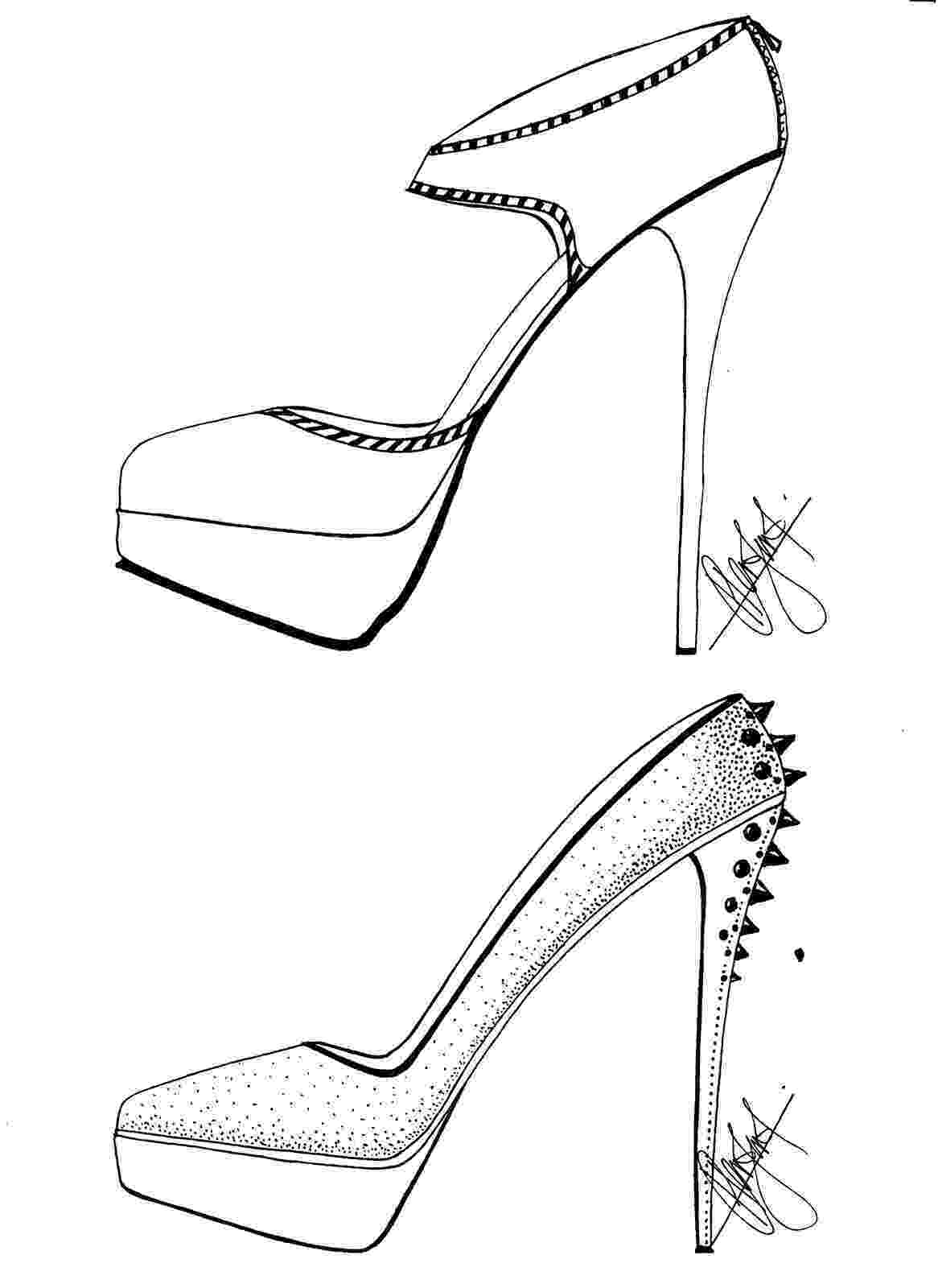 heels sketch hafiz39s fashion sketching high heel sketches heels sketch