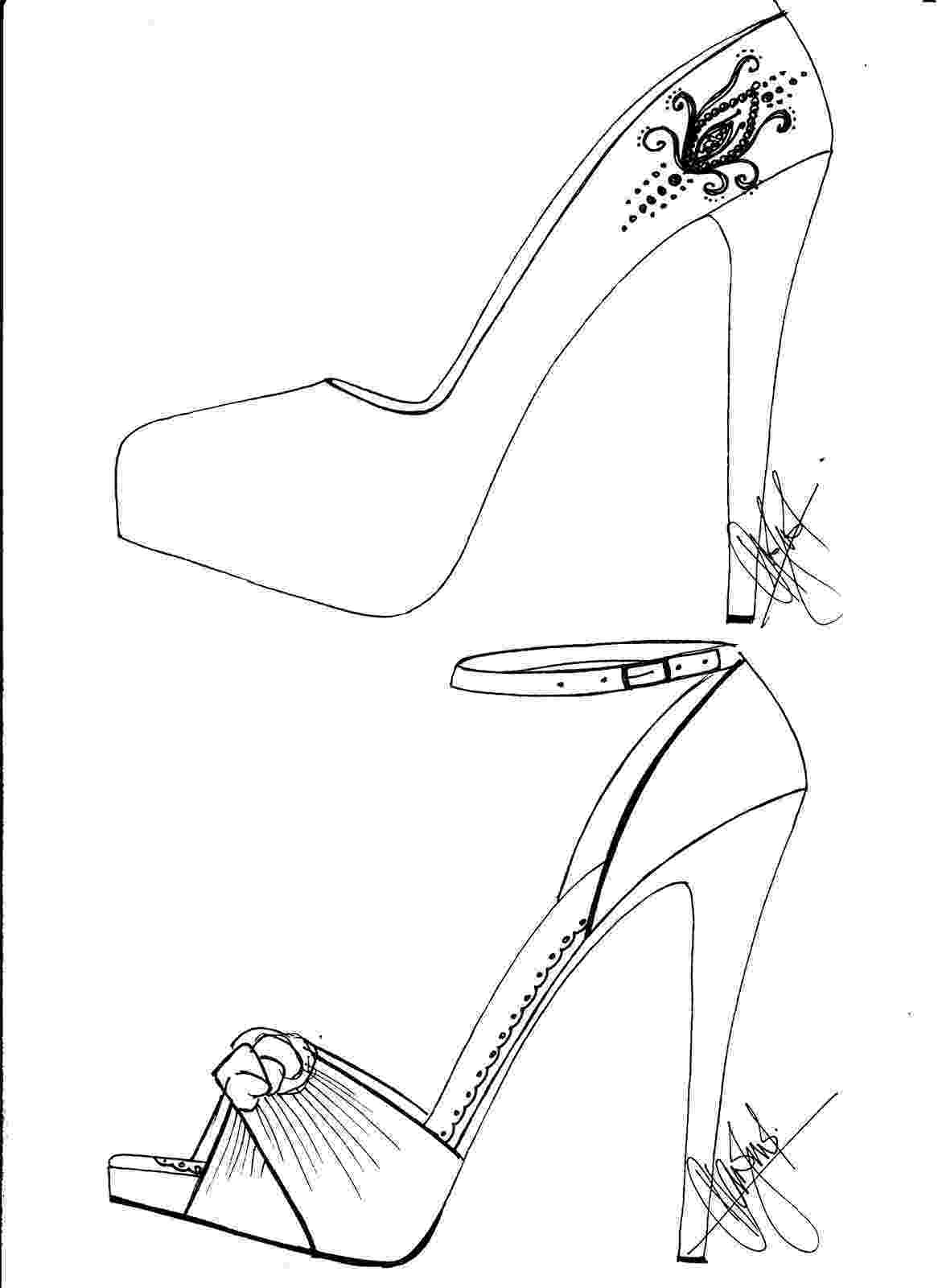 heels sketch hafiz39s fashion sketching high heel sketches heels sketch 1 2