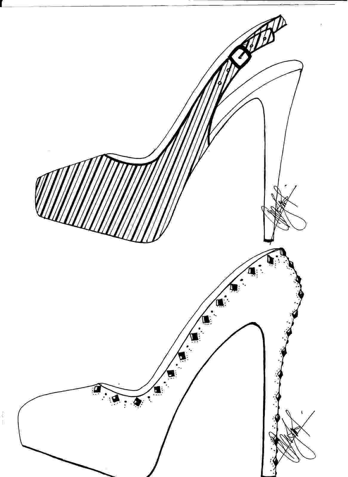 heels sketch hafiz39s fashion sketching high heel sketches heels sketch 1 3