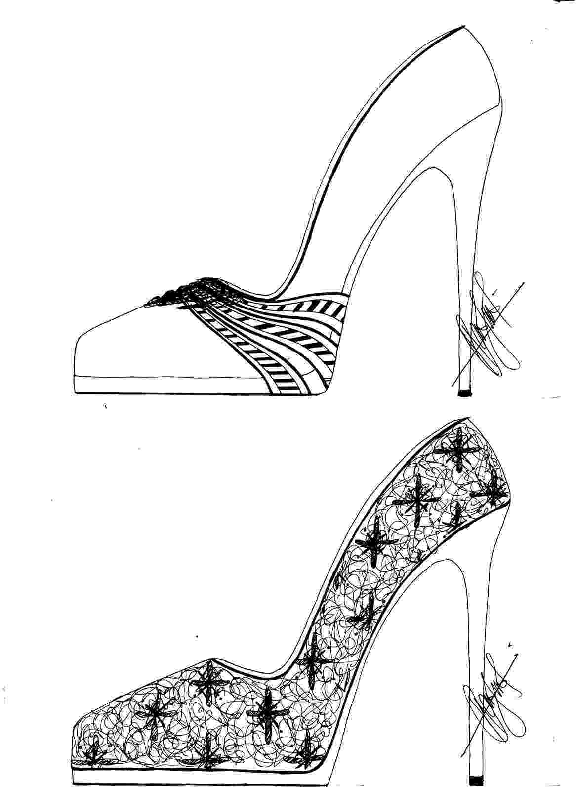 heels sketch hafiz39s fashion sketching high heel sketches heels sketch 1 4