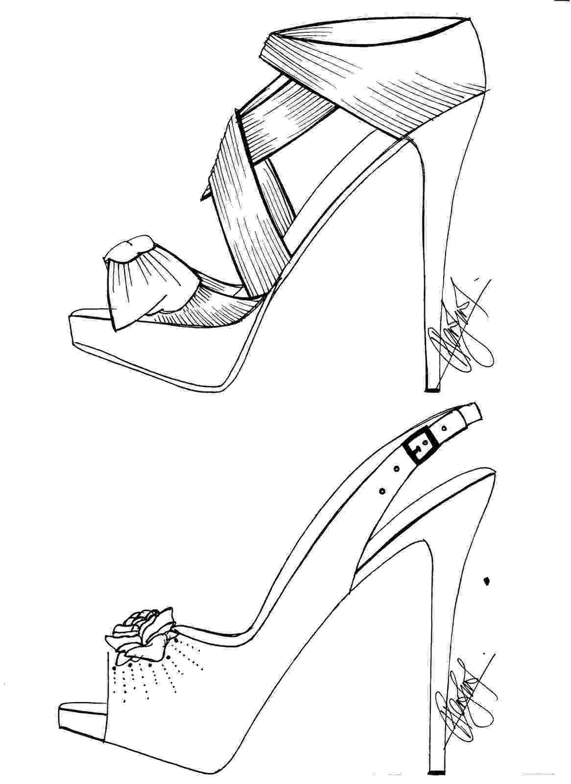 heels sketch hafiz39s fashion sketching high heels sketches sketch heels