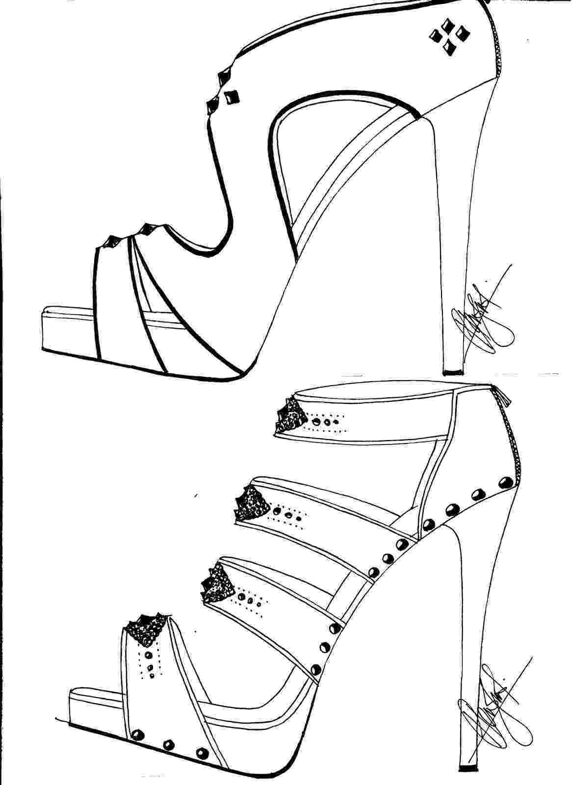 heels sketch how to draw a high heel shoe step by step drawing tutorials sketch heels