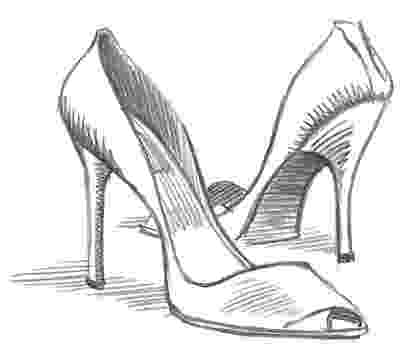 heels sketch mini lesson drawing shoes from different angles ms heels sketch