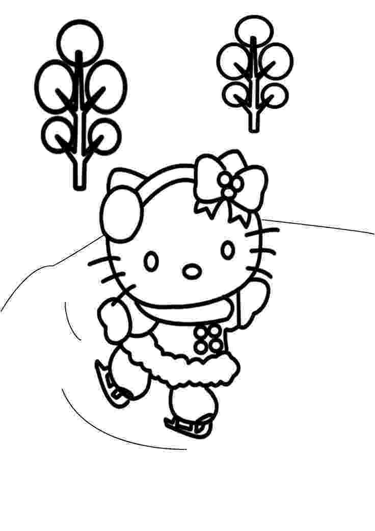 hello kitty fall coloring pages 14 best ice skating images on pinterest ice skating kitty coloring hello pages fall