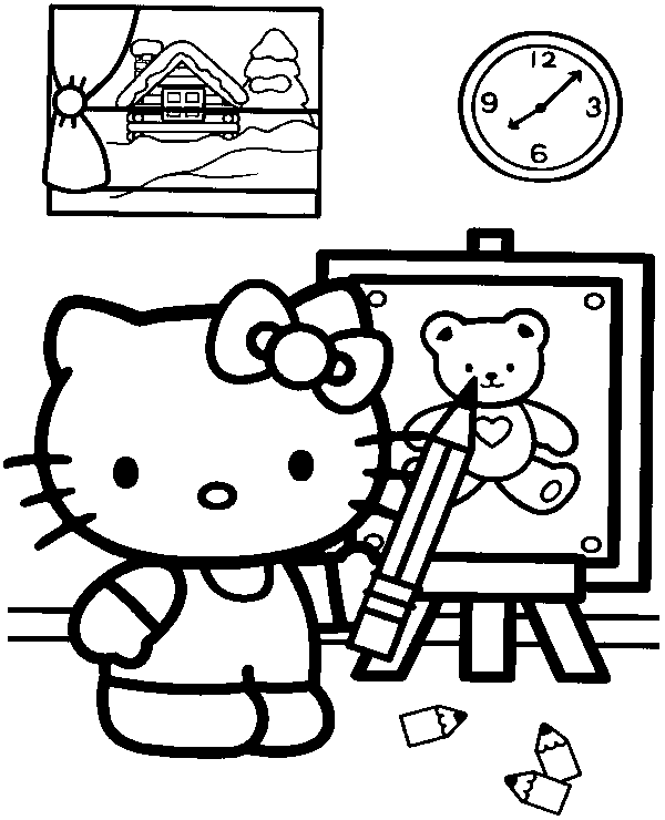 hello kitty fall coloring pages a free picture of hello kitty at home coloring sheet book coloring fall pages kitty hello