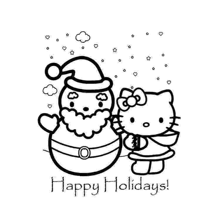 hello kitty fall coloring pages coloriage de noel de hello kitty hello kitty coloring coloring kitty hello pages fall