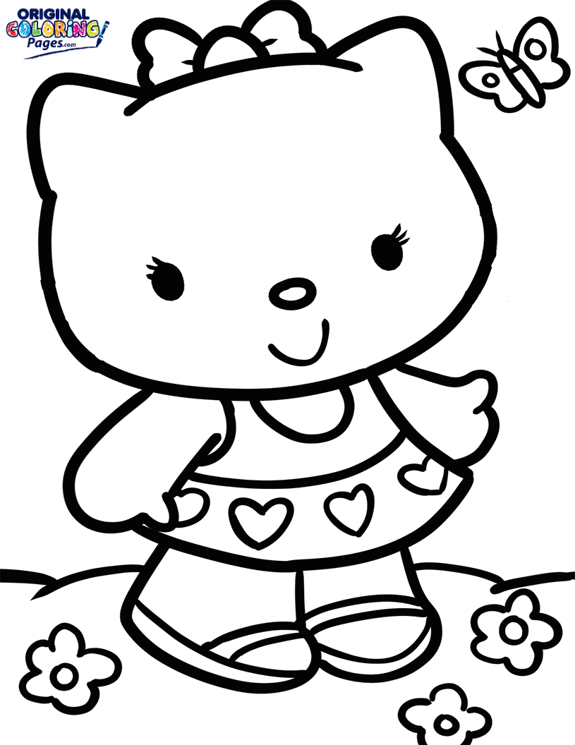 hello kitty fall coloring pages hello kitty drawings how to draw mermaid hello kitty hello fall pages coloring kitty