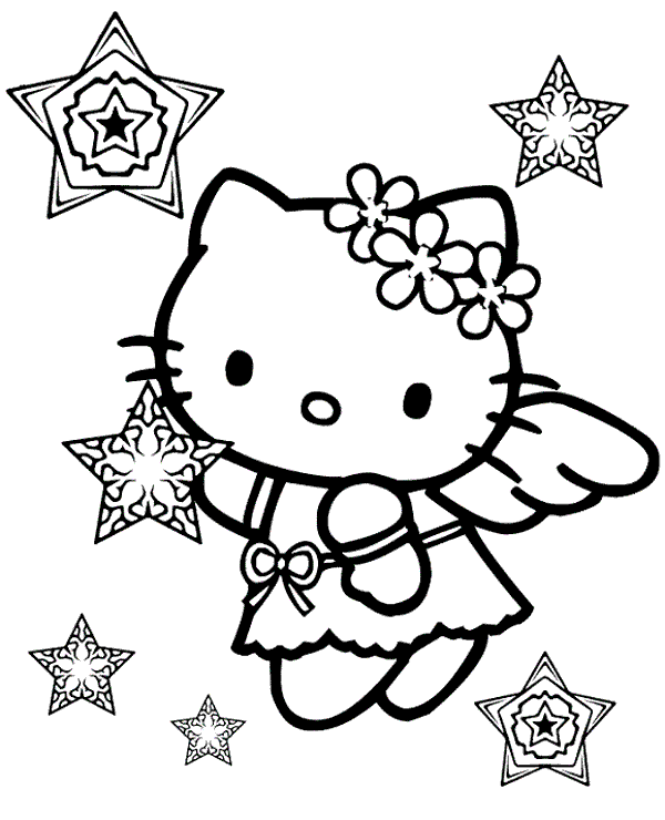 hello kitty fall coloring pages high quality hello kitty as an angel to print for free coloring fall pages hello kitty