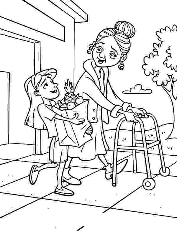 helping coloring page friends helping friends coloring page free printable page helping coloring