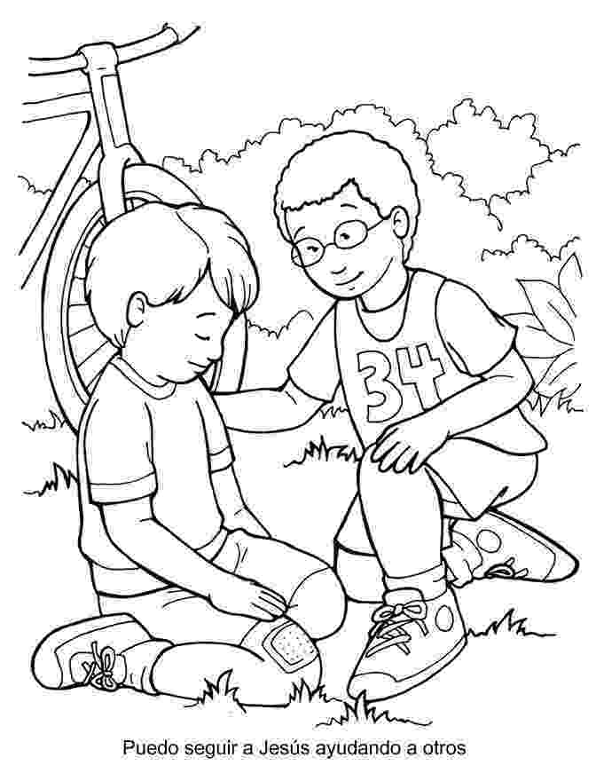 helping coloring page helping others take grandma to groceries store coloring helping coloring page