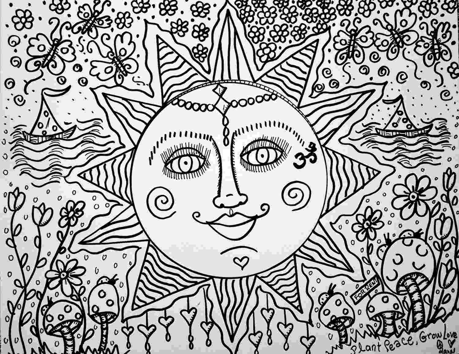 hippie coloring sheets hippie coloring pages coloring home sheets hippie coloring