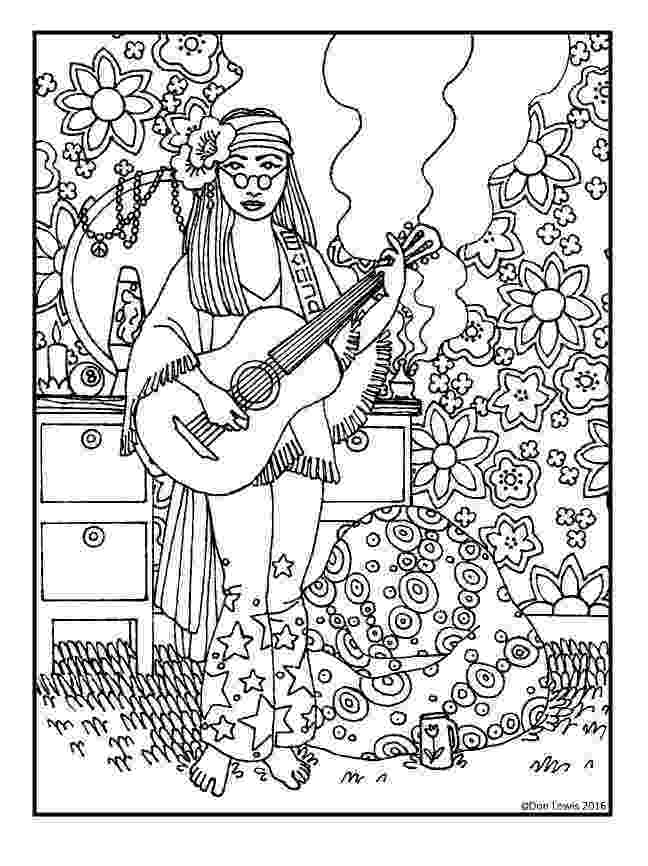 hippie coloring sheets hippie drawings sketch coloring page coloring hippie sheets