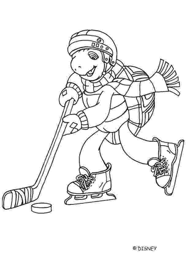 hockey pictures to color franklin playing ice hockey coloring pages hellokidscom hockey to color pictures
