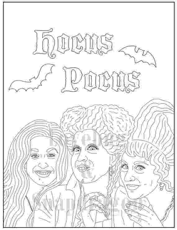 hocus pocus coloring pages hocus pocus an art print by leann moffitt halloween pages pocus coloring hocus