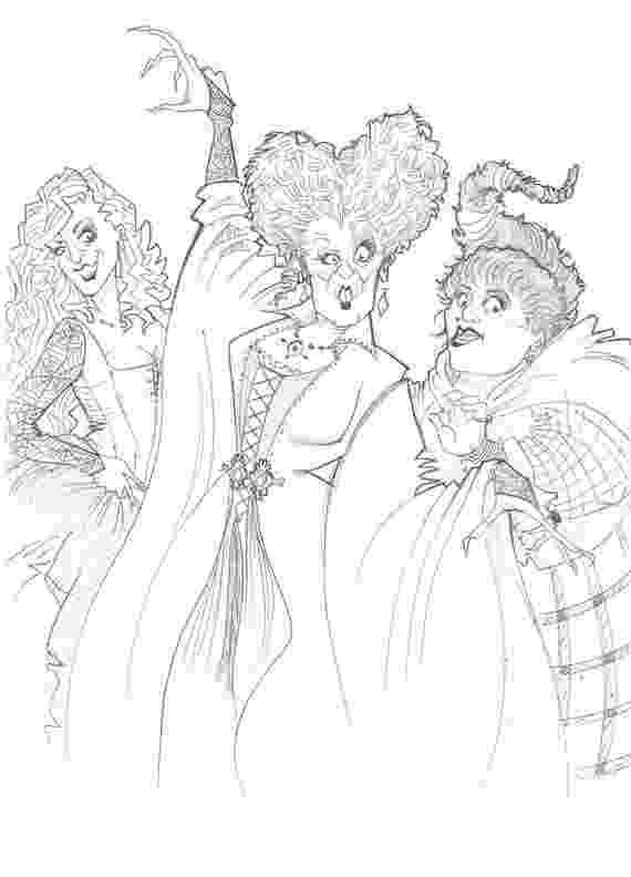 hocus pocus coloring pages sanderson sisters from hocus pocus sketch pocus pages coloring hocus