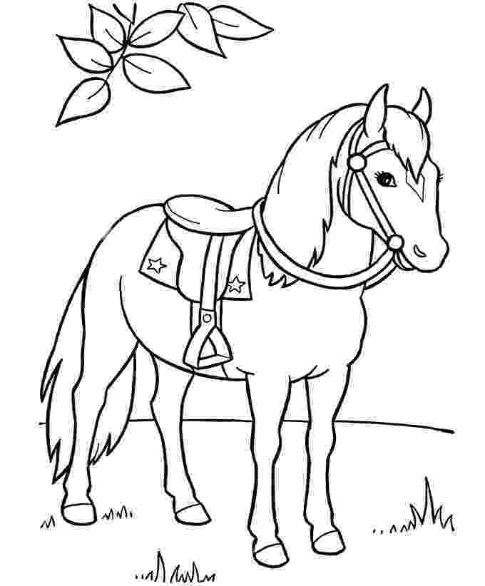 horse picture to color coloring town to picture color horse