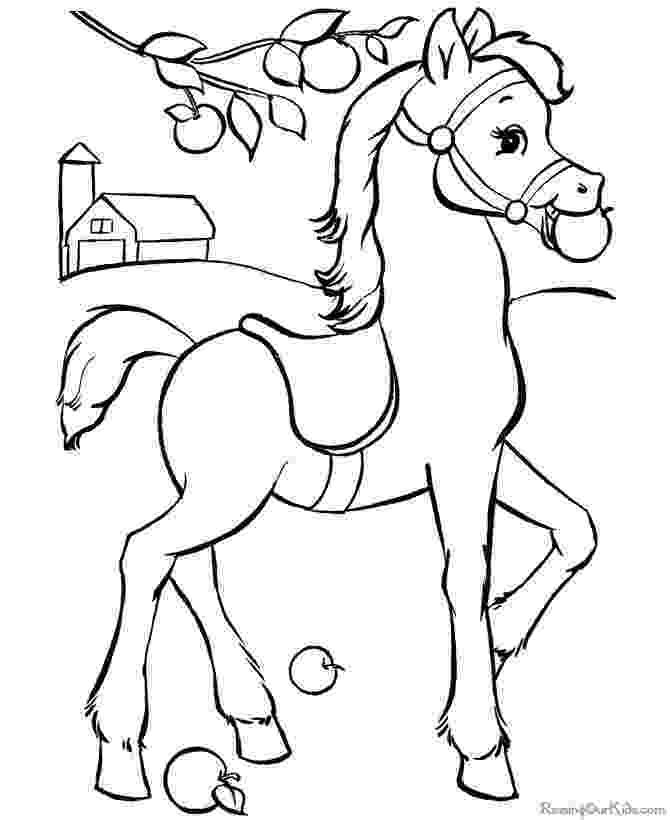 horse picture to color horse coloring pages preschool and kindergarten horse to picture color