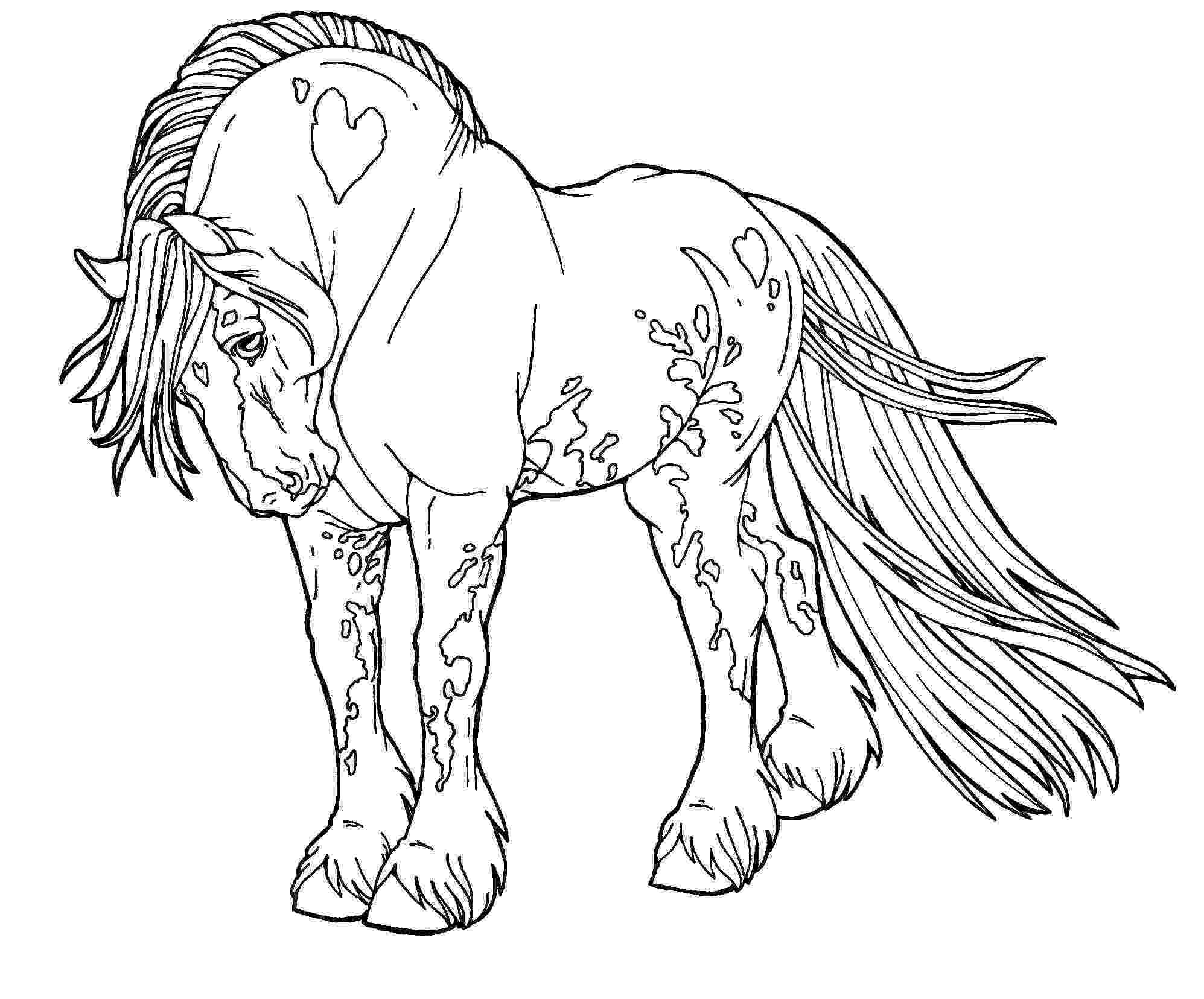 horses to color free lines gypsy drum horse by applehunter on deviantart color to horses