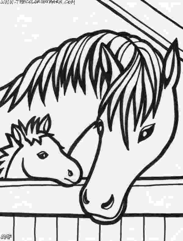 horses to color horse outline printable for kids coloring point color to horses