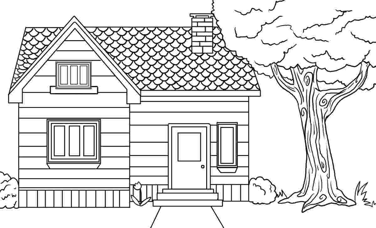 houses to color free printable house coloring pages for kids houses to color