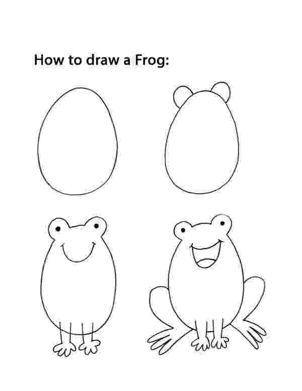 how to a frog how to draw a frog tutorial how frog to a