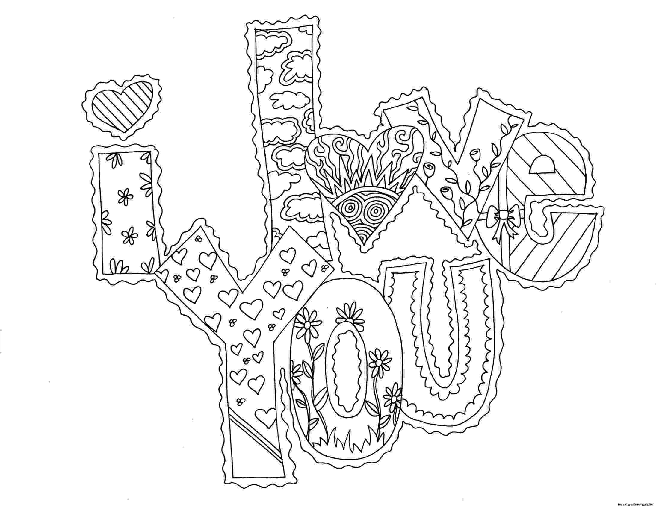 i love you coloring pages printable quoti love you quot coloring pages you printable love coloring pages i