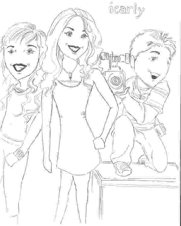 icarly pictures to print icarly coloring pages coloring pages to print pictures to icarly print