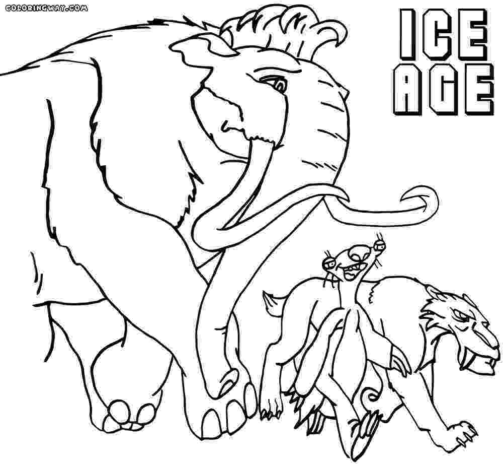 ice age coloring pages ice age ellie coloring pages coloring home coloring pages age ice