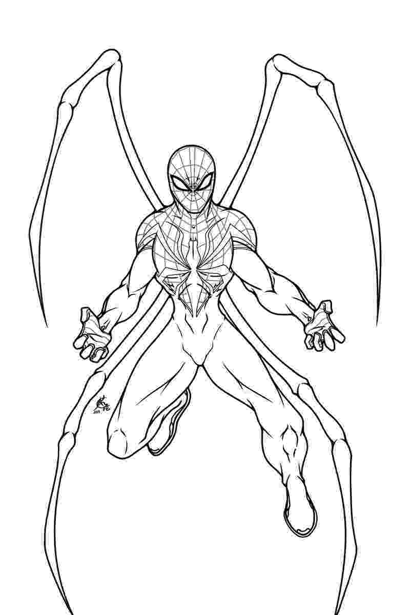 imagenes de iron man para colorear the superior spider man lineart by platinumfang on deviantart iron para imagenes de man colorear