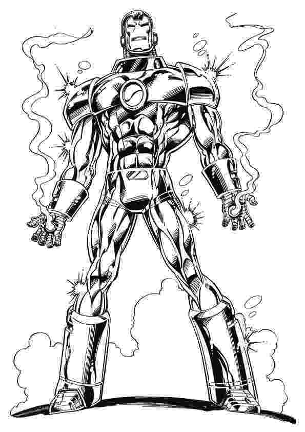 iron man color page super heros coloring pages momjunction iron page man color