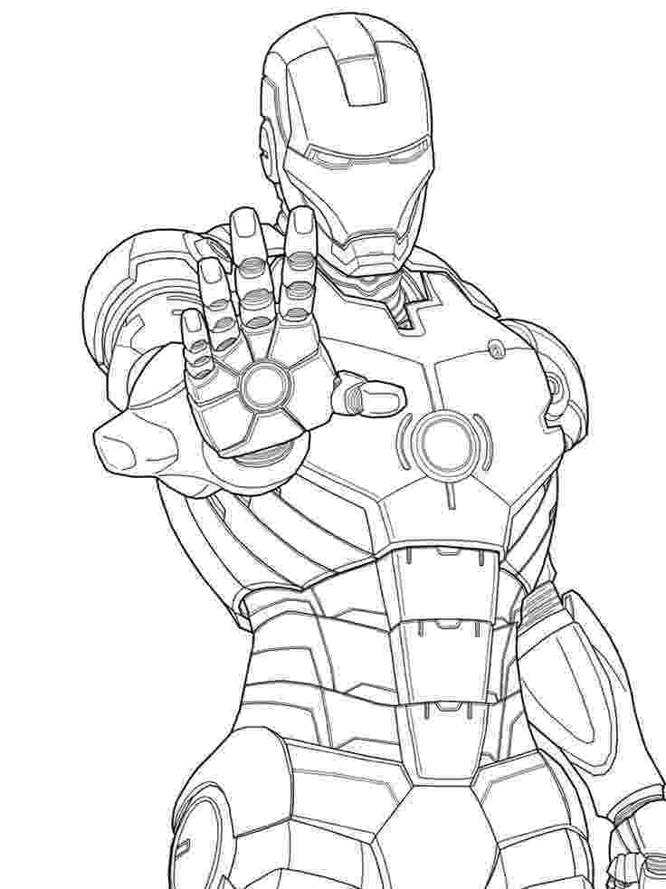 ironman colouring super heros coloring pages momjunction colouring ironman