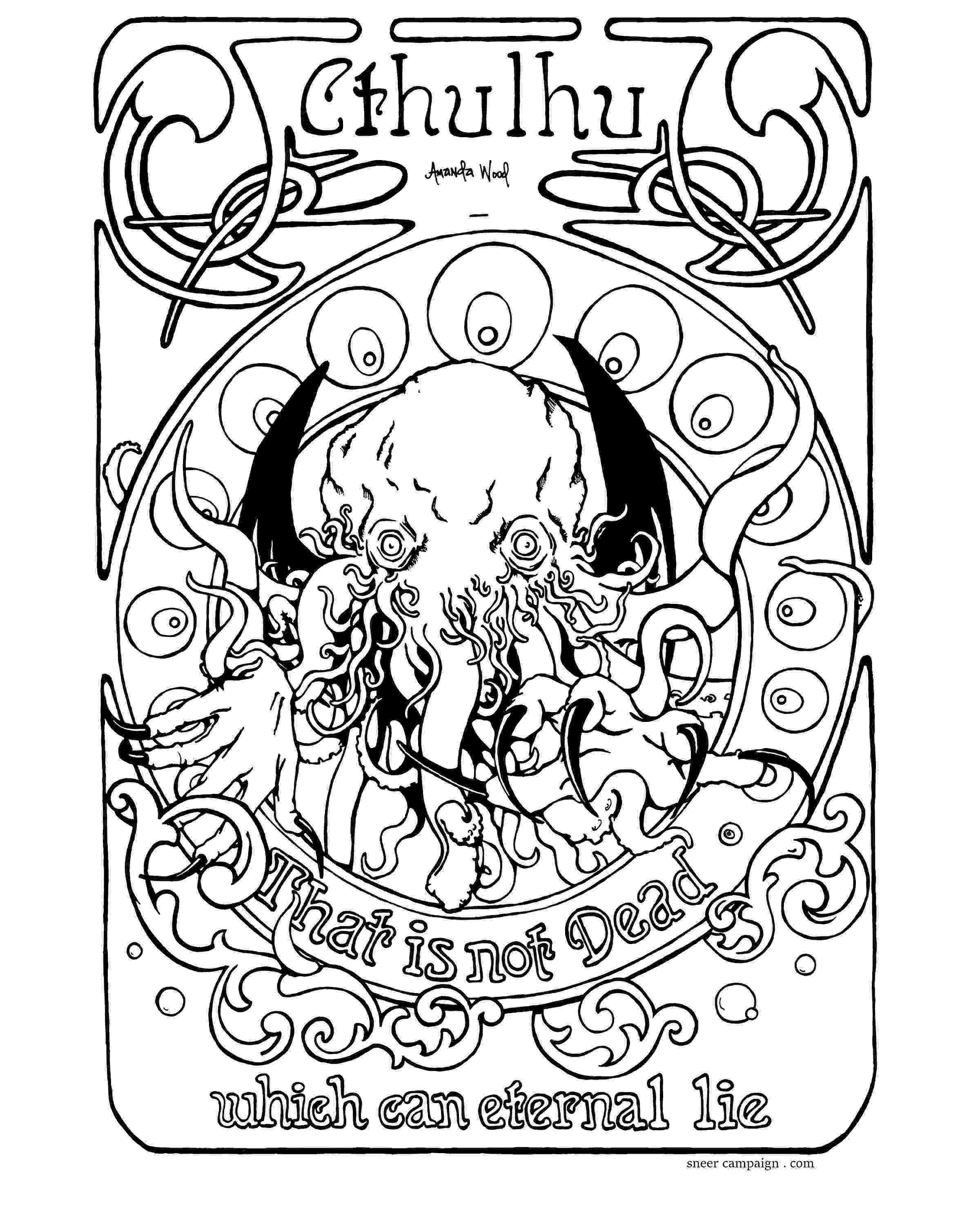 is for cthulhu coloring book color cthulhu sneer campaign book is for coloring cthulhu