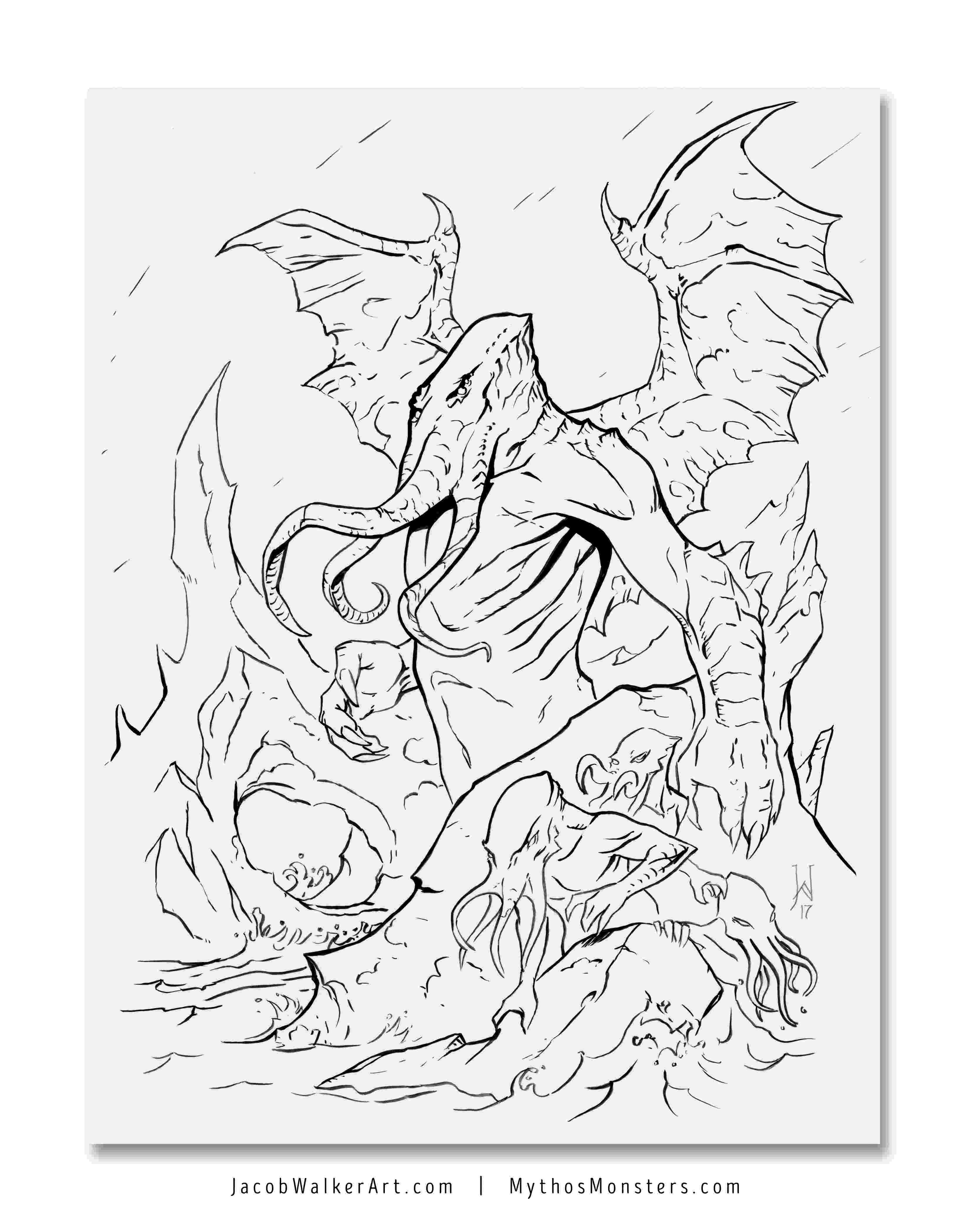 is for cthulhu coloring book cthulhu coloring page cthulhu coloring pages cthulhu cthulhu coloring book is for