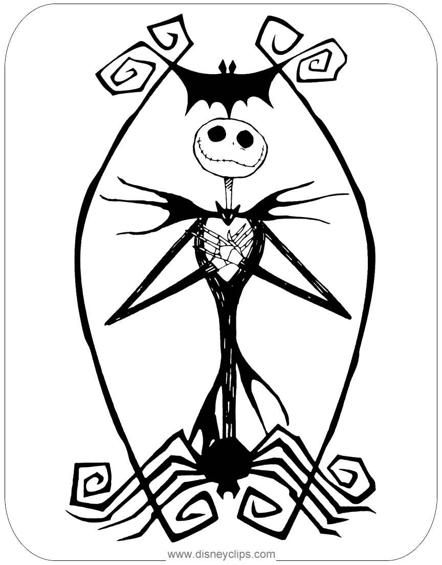 jack skellington coloring pages free printable nightmare before christmas coloring pages skellington coloring jack pages