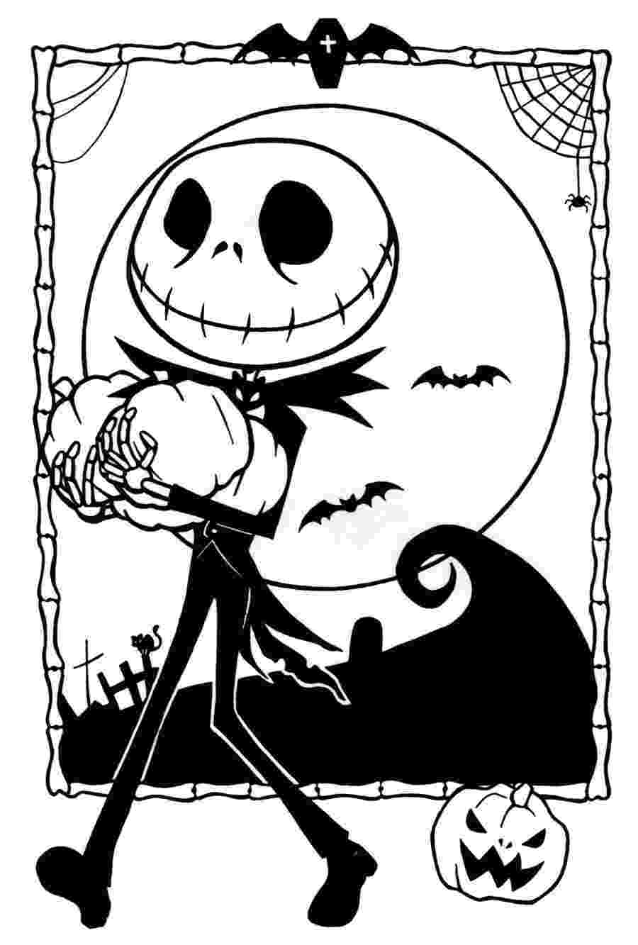 jack skellington coloring pages free printable nightmare before christmas coloring pages skellington pages jack coloring