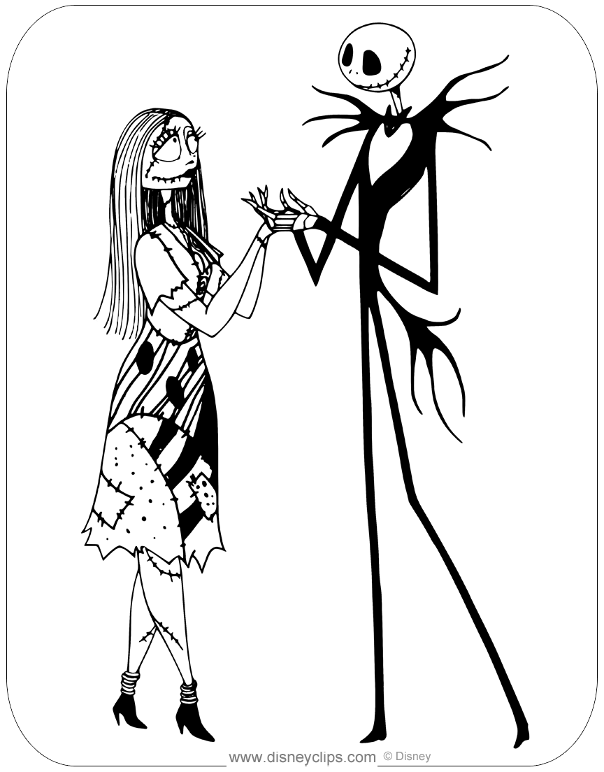 jack skellington coloring pages the nightmare before christmas coloring pages skellington jack pages coloring