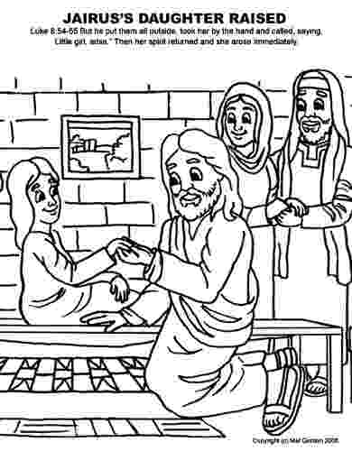 jairus daughter colouring sheets bible story coloring page for jesus raises jairus sheets jairus daughter colouring