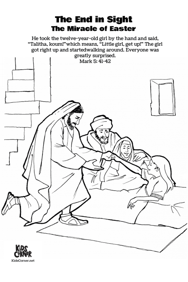 jairus daughter colouring sheets sick girl who healed by miracles of jesus coloring page sheets daughter jairus colouring