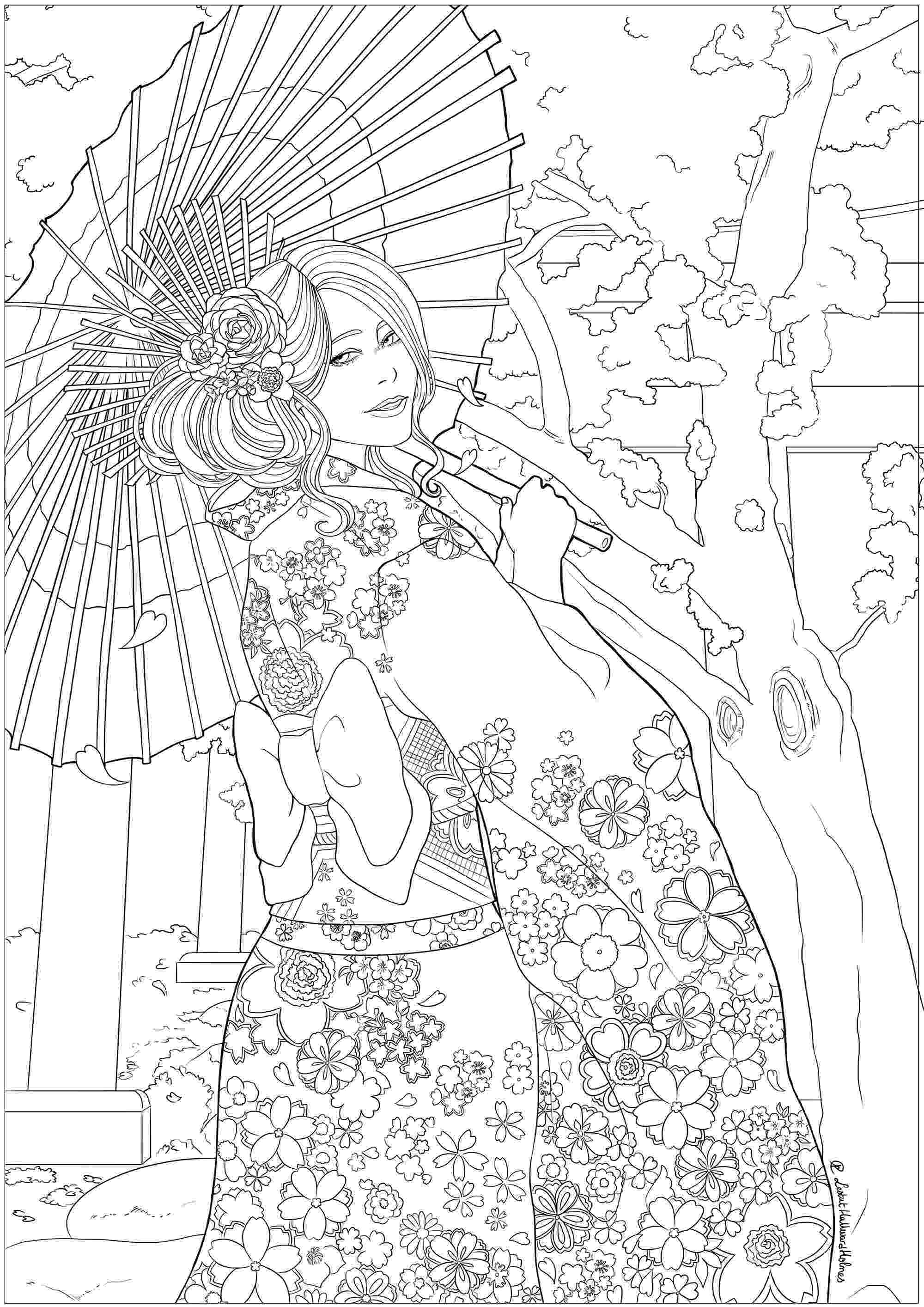japanese coloring pages japanese celebrating hanami japan adult coloring pages pages japanese coloring