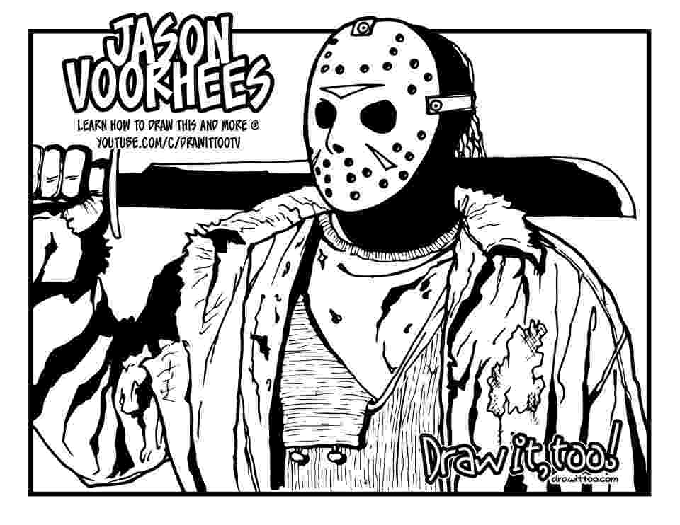 jason voorhees coloring pages jason coloring pages friday the 13th activity shelter pages coloring voorhees jason