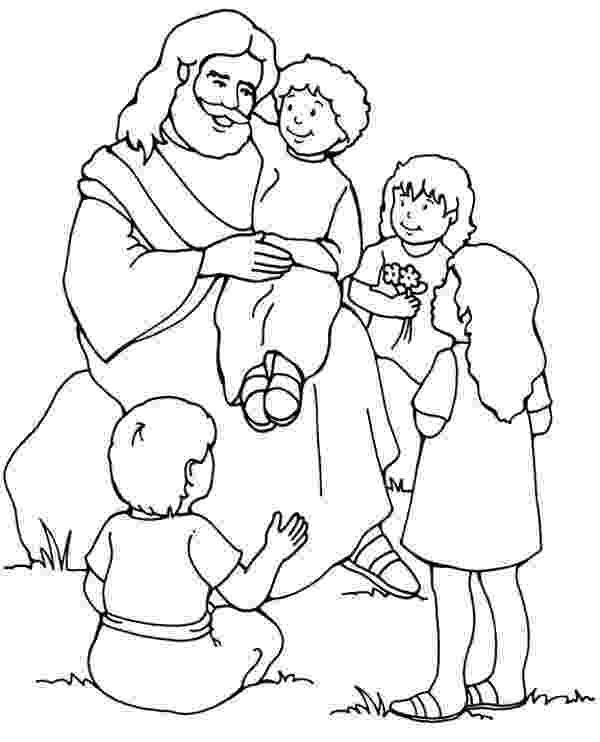 jesus and the children coloring page an illustration of christ blessing the children from the coloring the and children jesus page