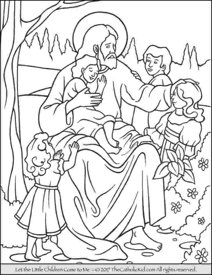 jesus and the children coloring page christ meeting the children jesus and coloring children the page