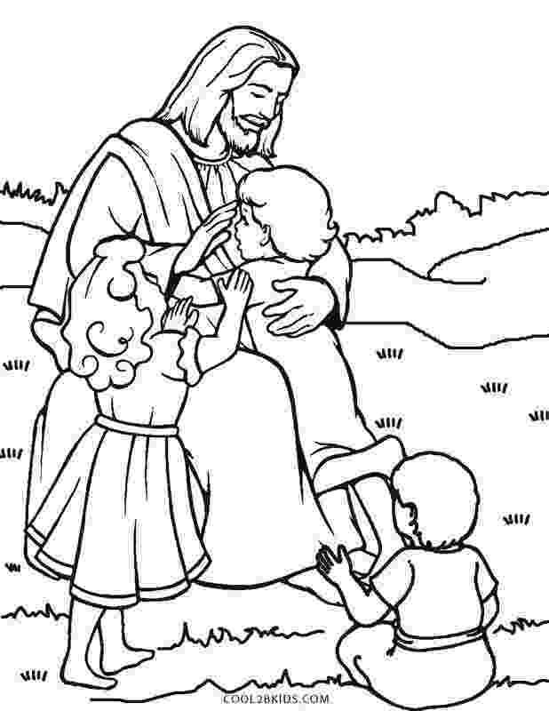 jesus and the children coloring page free printable jesus coloring pages for kids cool2bkids coloring and children the page jesus